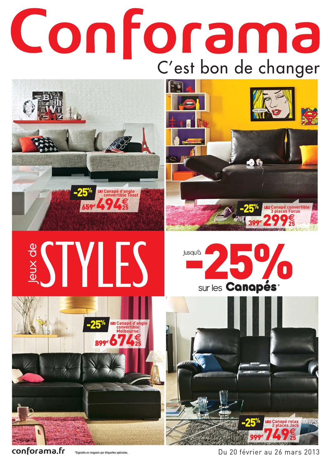 Conforama Catalogue 20 F Vrier 26 Mars 2013 By Promocatalogues Com  # Meuble Tv D Angle Chez Conforama