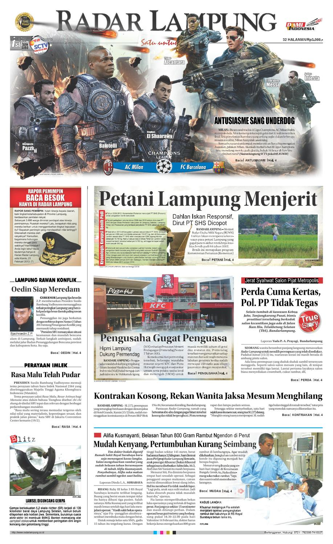 Radar Lampung Rabu 20 Februari 2013 By Ayep Kancee Issuu Produk Ukm Bumn Jamu Kunyit Asam Seger Waras