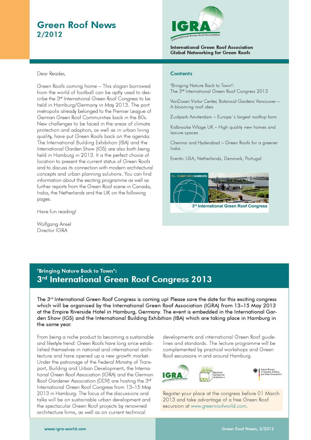Igra green roof news by international federation of for International federation of landscape architects