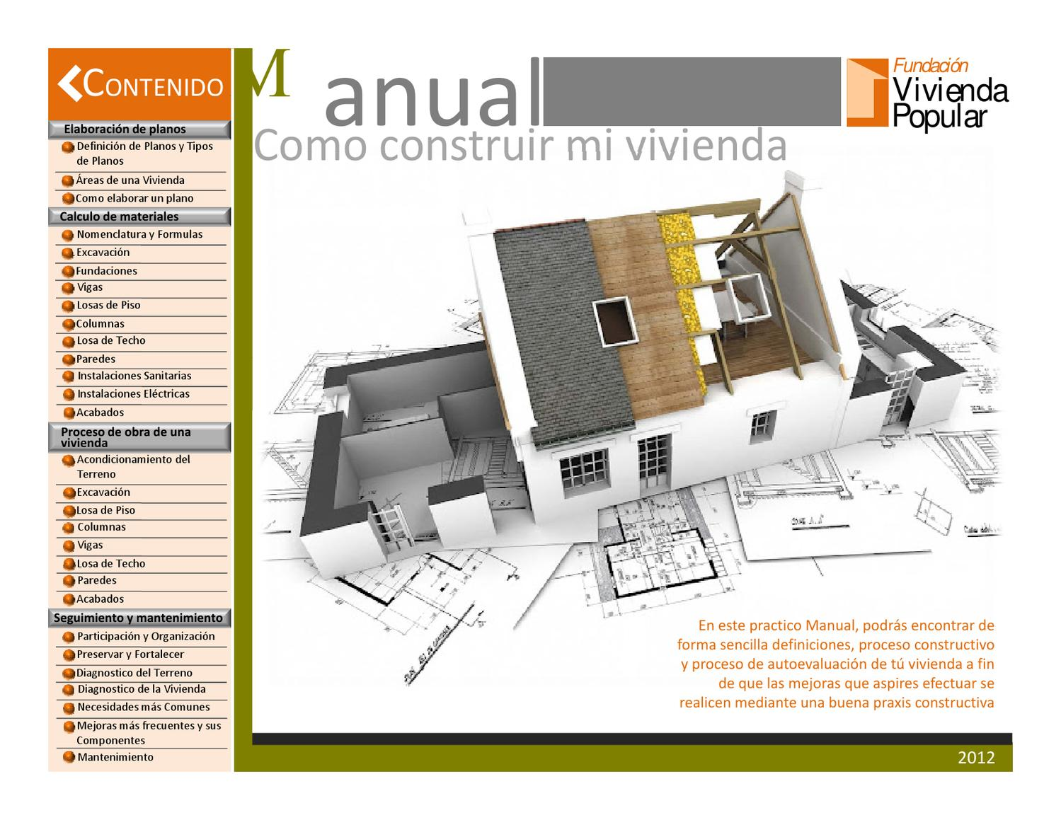 Manual ¿Cómo construir mi vivienda? by jennifer matute - issuu