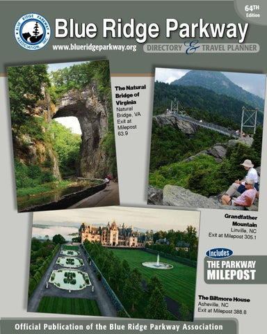 Blue Ridge Parkway Directory   Travel Planner - 64th Edition by Blue ... 73bfa8f0786d