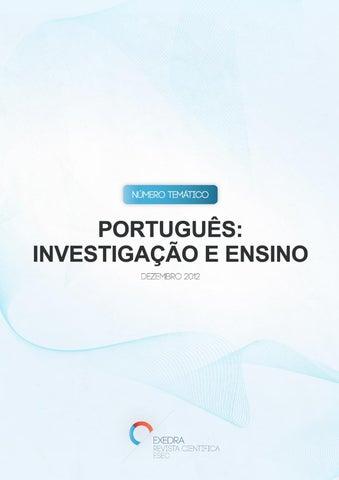 N. Temático de 2013 - Português  Investigação e Ensino by Exedra ... d2132d577d