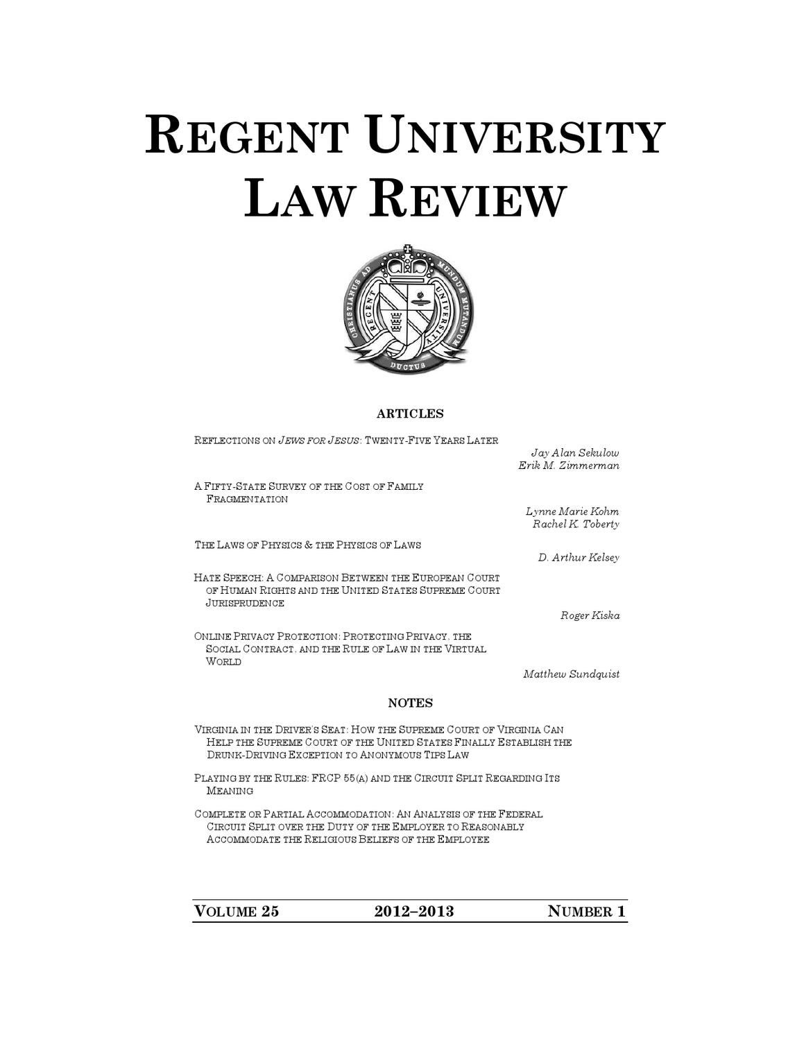 Regent University Law Review Vol 25 No 1 By Circuit Tracker And Breaker Finder Testers Amazon School Of Issuu