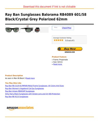 86a40e8bca Page 1. Download this document if link is not clickable. Ray Ban Sunglasses  Balorama RB4089 ...