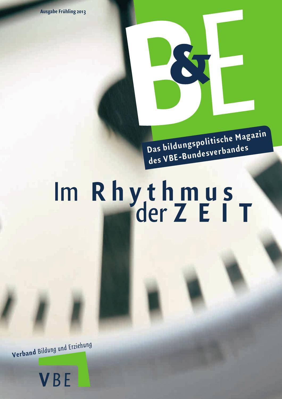 B&E Magazin - Ausgabe 1 2013 - Im Rhythmus der Zeit by chaos ...