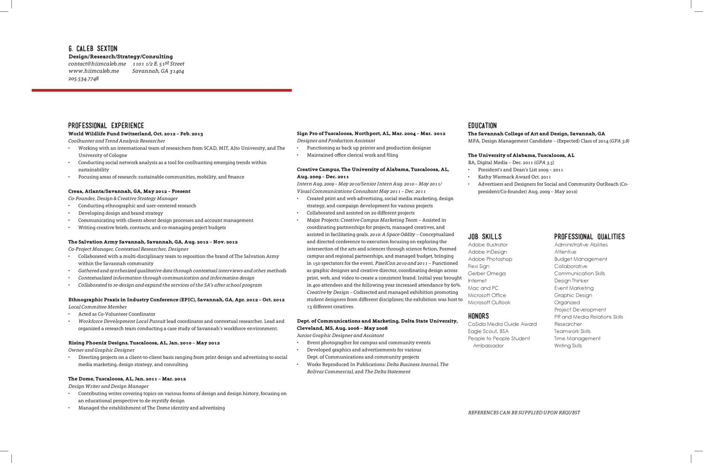 Resume by Caleb Sexton - issuu