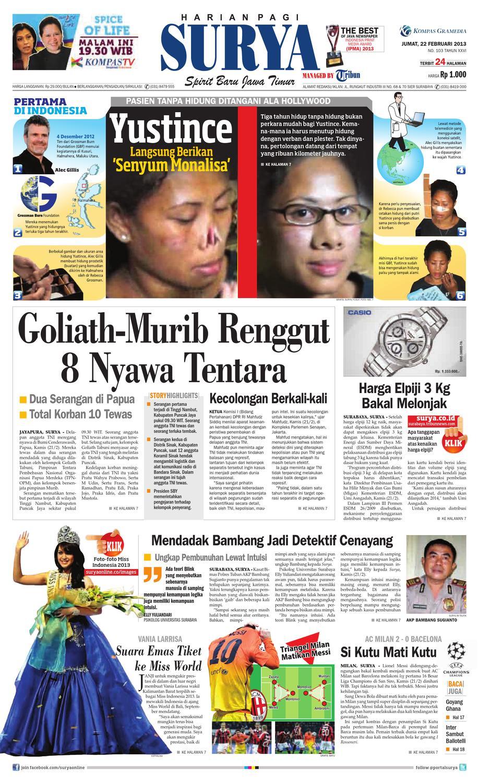 E Paper Surya Edisi 22 Februari 2013 By Harian Issuu Produk Ukm Bumn Kain Batik Middle Premium 3 Bendera 01