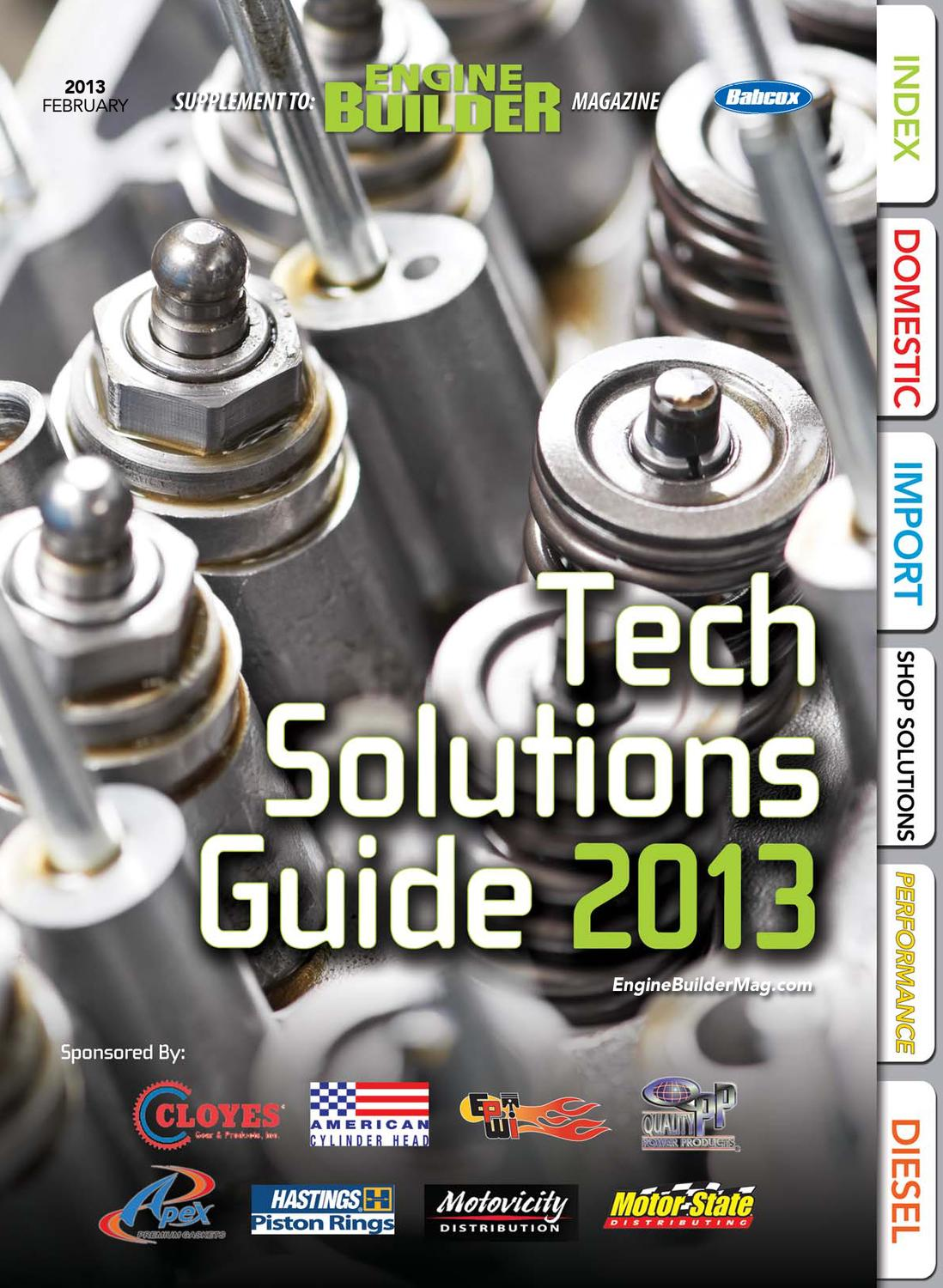 Engine Builder-Tech Solutions Guide 2013 by Babcox Media - issuu