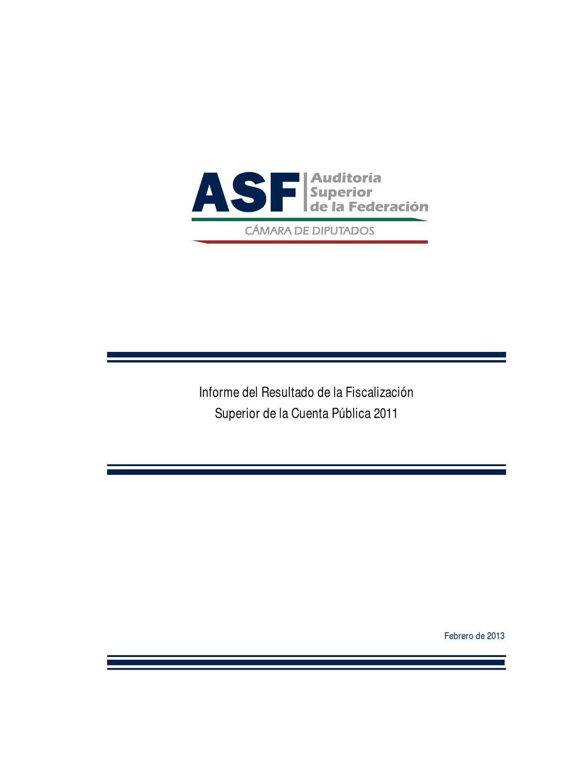 Informe del Resultado de la Fiscalización Superior de la Cuenta ...