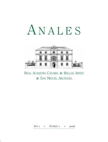 2008- Revista ANALES de la RACBA núm 1 by Real Academia Canaria de ...