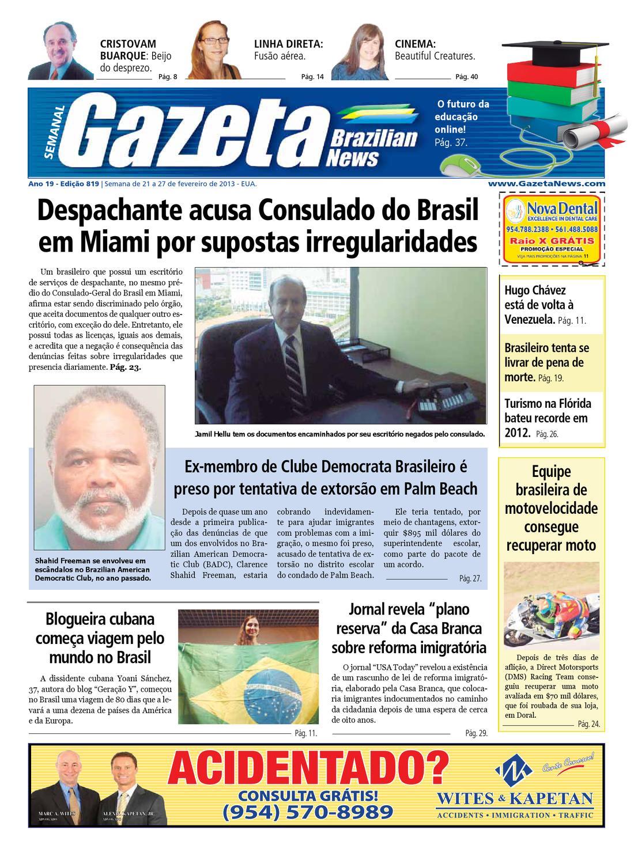 Edição 819 - De 21 a 27 fevereiro de 2013. by Gazeta Brazilian News - issuu 8f965c511b