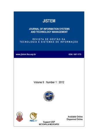 Volume ix number i by laboratrio de tecnologia e sistemas de jistem journal of information systems and technology management revista de gesto da tecnologia e sistemas de informao fandeluxe Choice Image