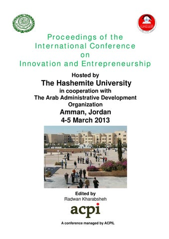 Icie 2013 Proceedings Of The International Conference On Innovation