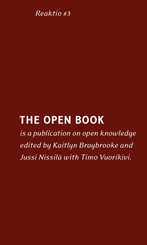 the open book by the finnish institute in london issuu