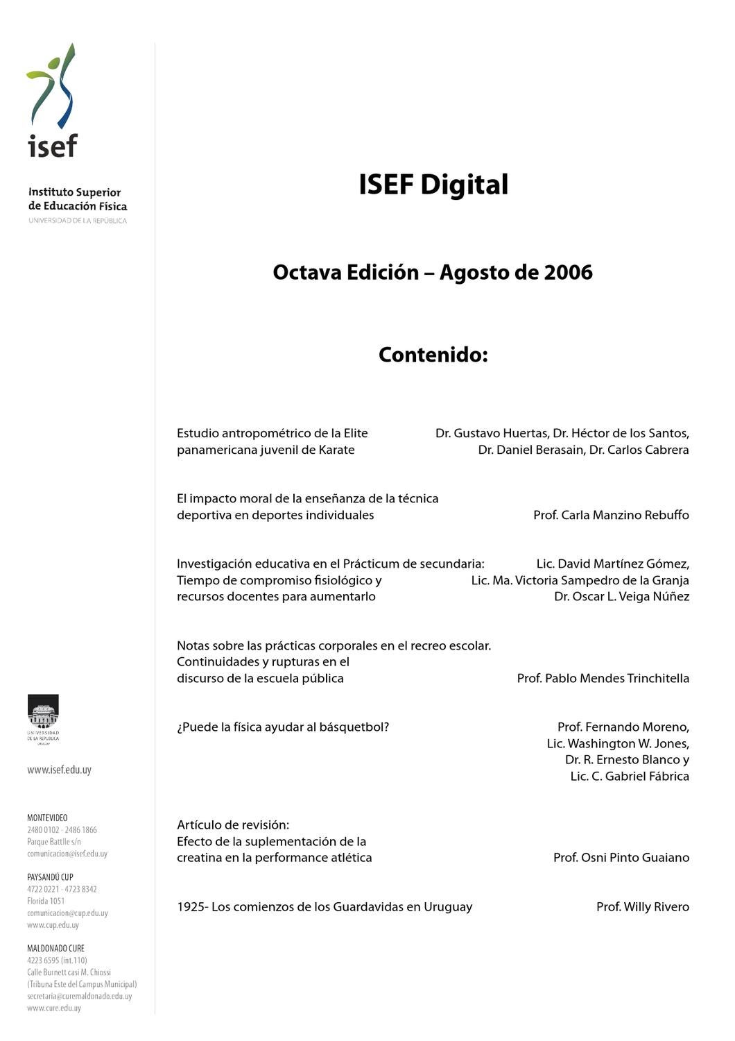 ISEF Digital - Octava edición (Agosto de 2006) by Instituto Superior ...
