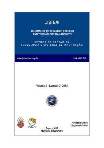 Volume ix number ii by laboratrio de tecnologia e sistemas de jistem journal of information systems and technology management revista de gesto da tecnologia e sistemas de informao fandeluxe