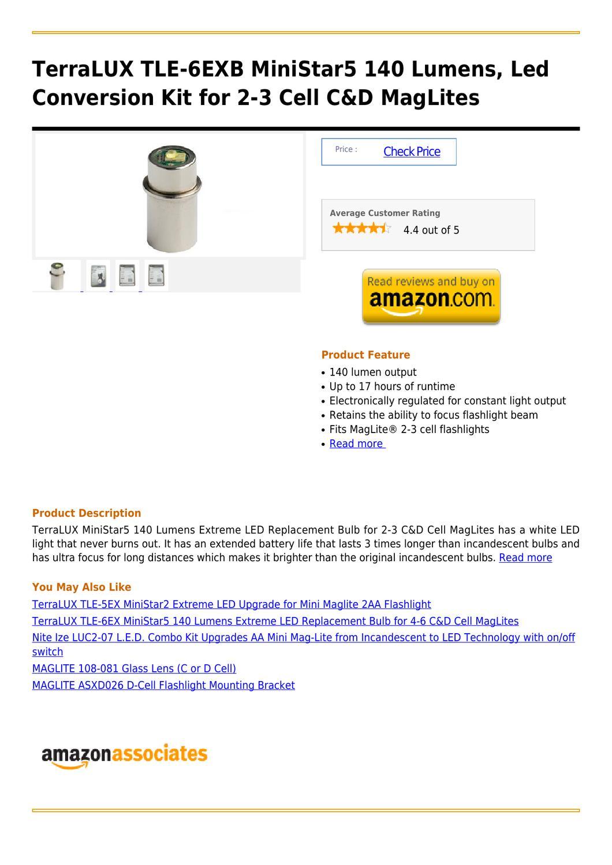 Terralux Tle 6exb Ministar5 140 Lumens Led Conversion Kit
