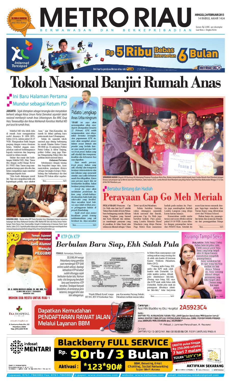 Metroriau 24022013 By Harian Pagi Metro Riau Issuu Kopi Bubuk Ridha Utama Smg