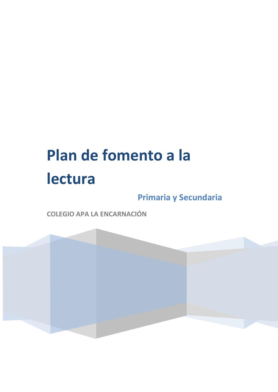 Plan de Fomento a la lectura by concepcion barcelo gras - issuu