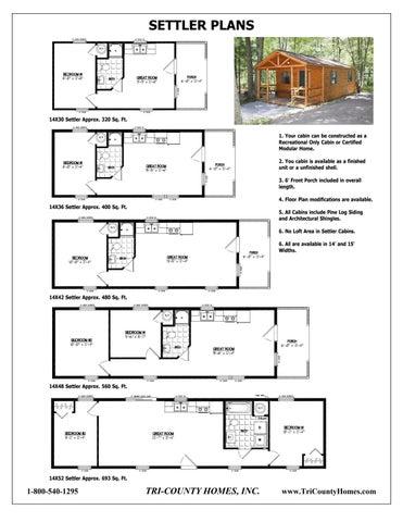 Sample Log Home Plans By Tri County Homes Issuu