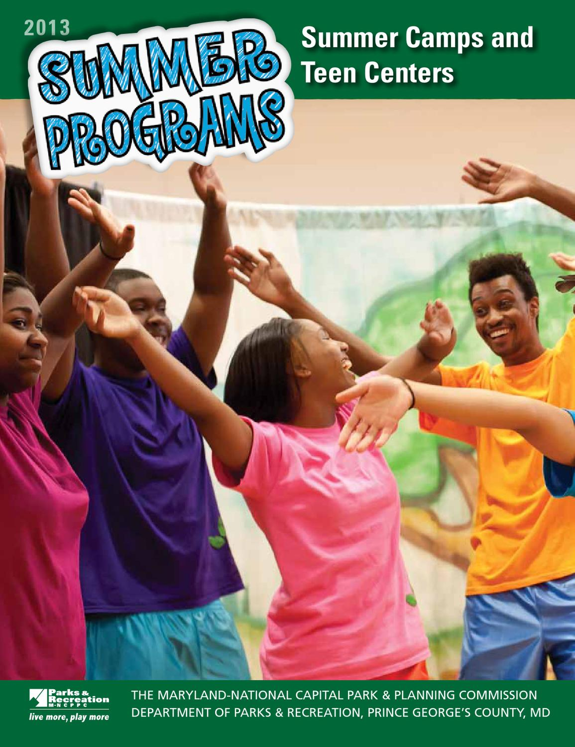 Summer Programs for Teens by M-NCPPC, Department of Parks ...