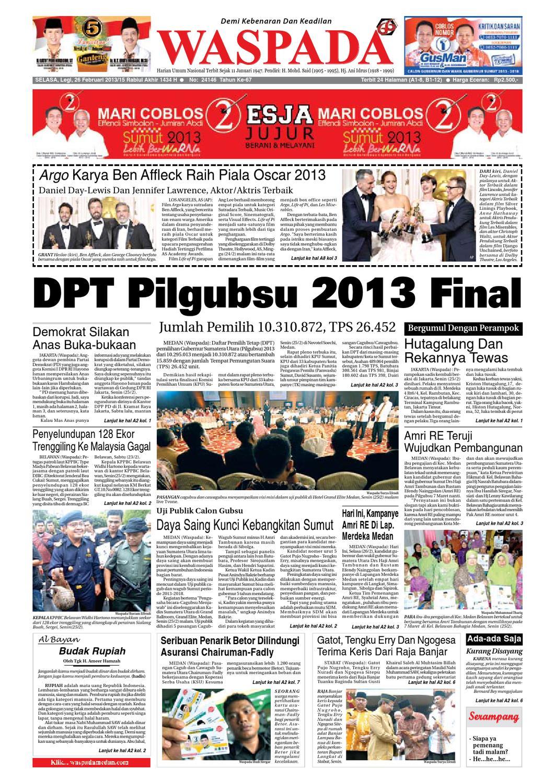 Waspada Selasa 26 Februari 2013 By Harian Waspada Issuu