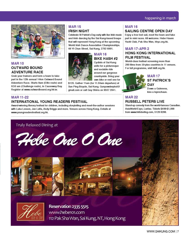 Sai Kung Magazine March 2013 by Hong Kong Living Ltd - issuu