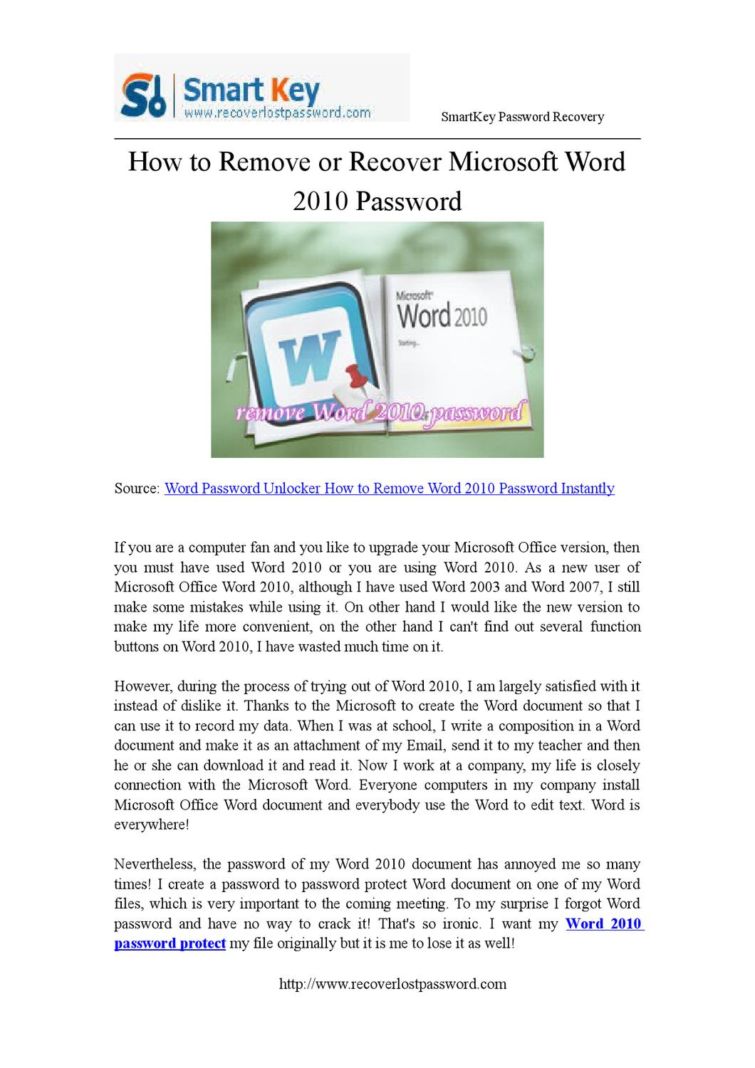 hack word password protected document