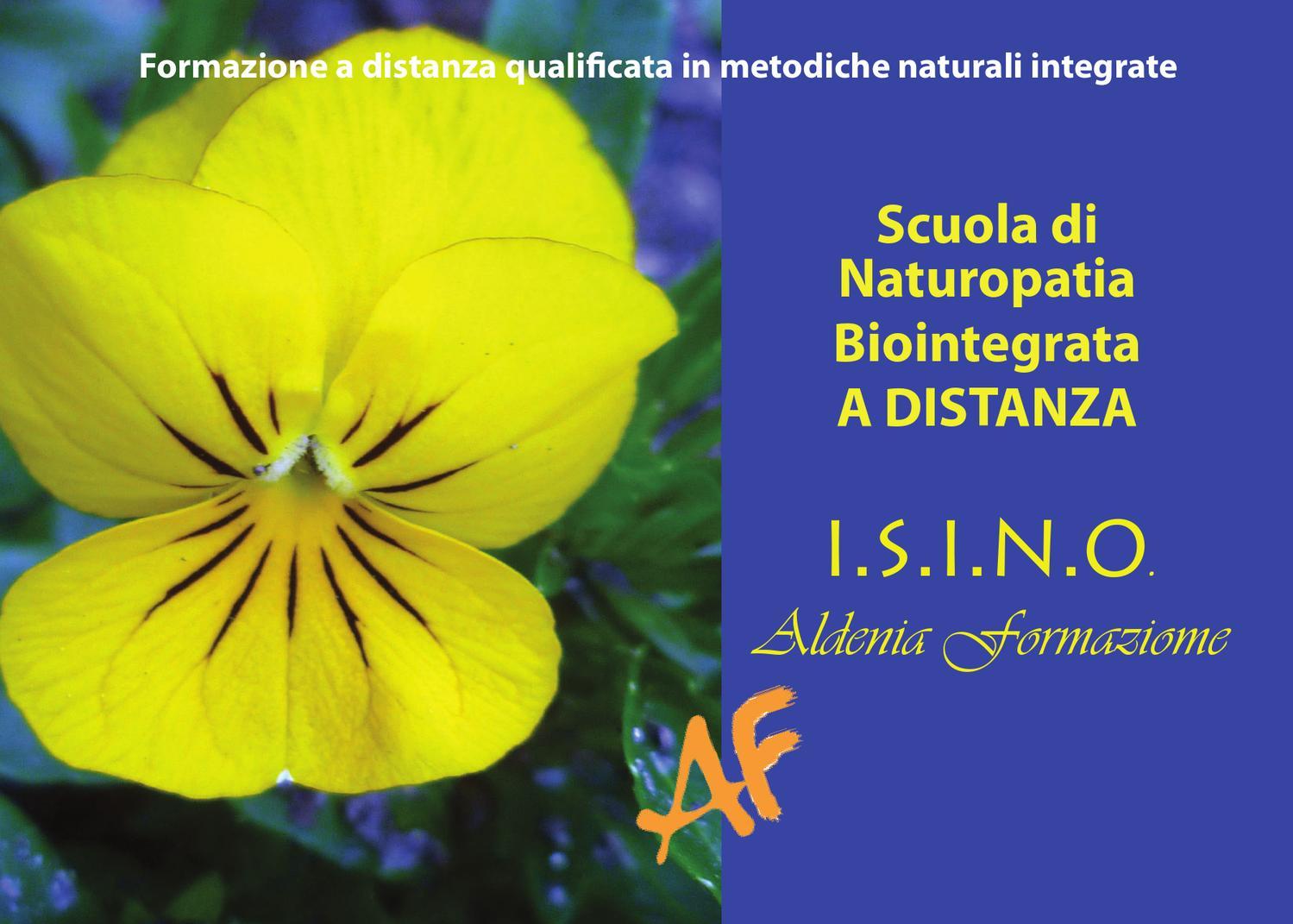 Scuola di Naturopatia Biointegrata a distanza