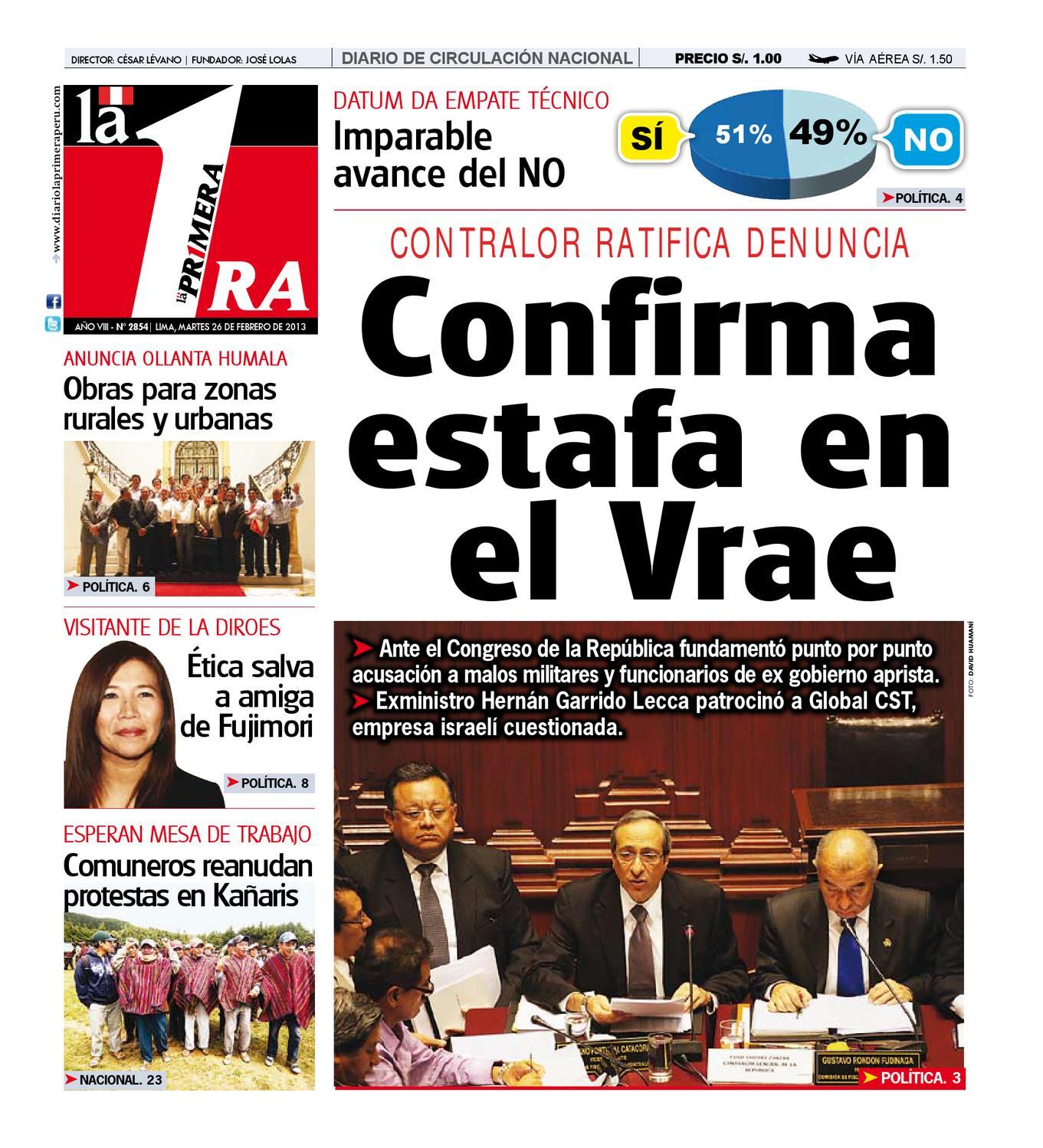 Diario La Primera 26 de febrero de 2013 by Diario UNO - Lima Perú ...