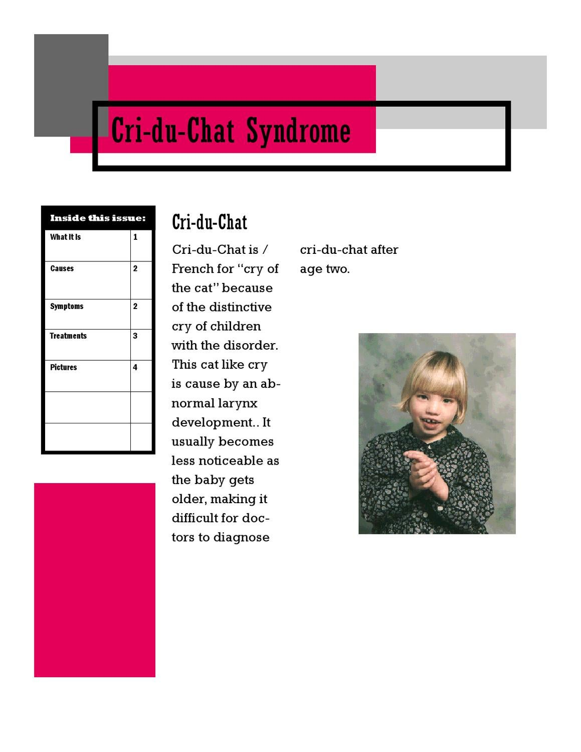cri-du-chat jondalyn zortorres by shades valley hs library - issuu