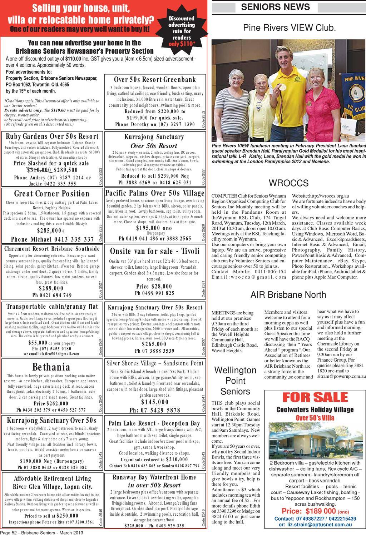 Brisbane Seniors Newspaper March 2013