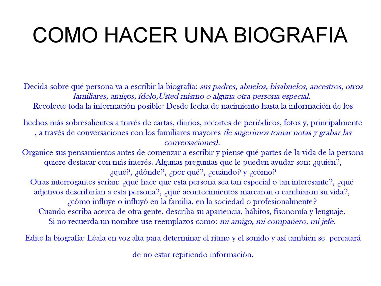 Como hacer una biografia by proyectodestacados juan issuu - Como se construye una barbacoa ...