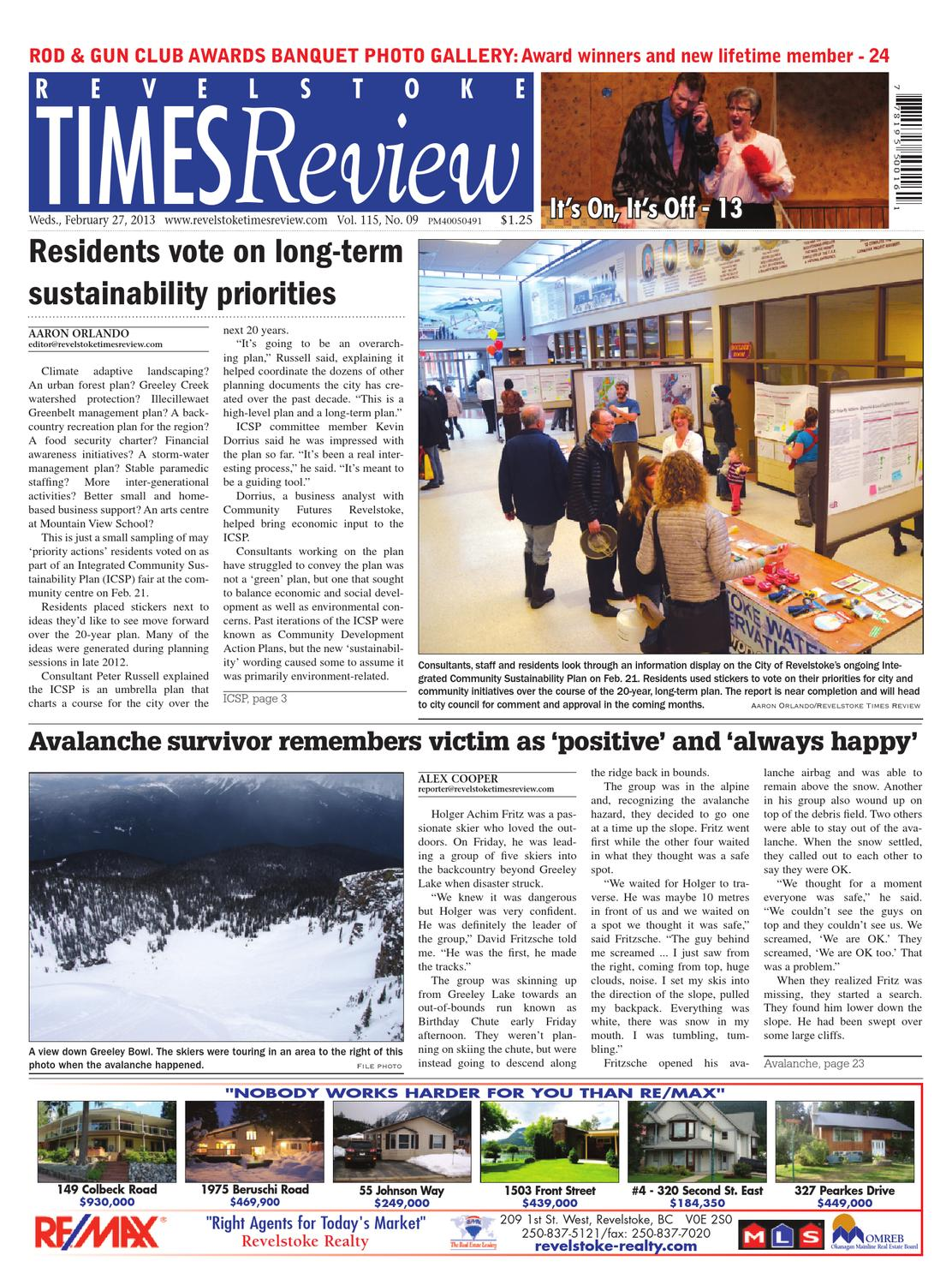 Revelstoke Times Review, February 27, 2013 by Black Press