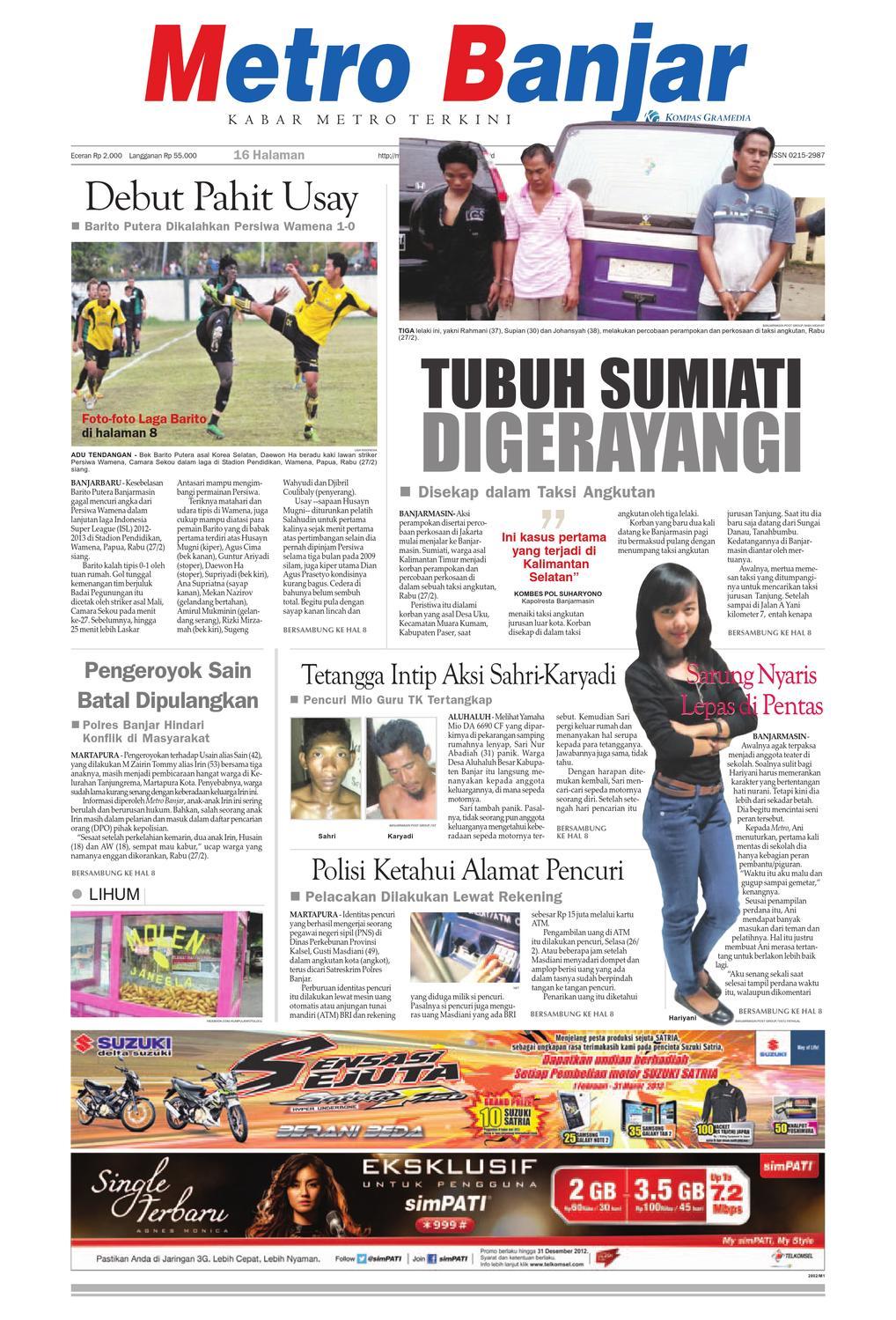 Metro Banjar edisi cetak Kamis 46006d7011