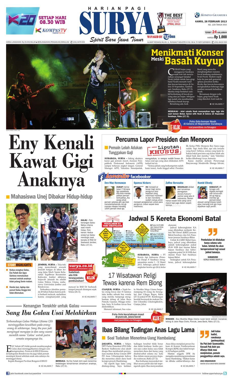 E Paper Surya Kamis 28 Februari 2013 By Harian Issuu Produk Ukm Bumn Suscho Sus Coklat Surabaya