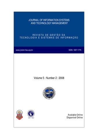Volume v numer ii by laboratrio de tecnologia e sistemas de journal of information systems and technology management fandeluxe Image collections
