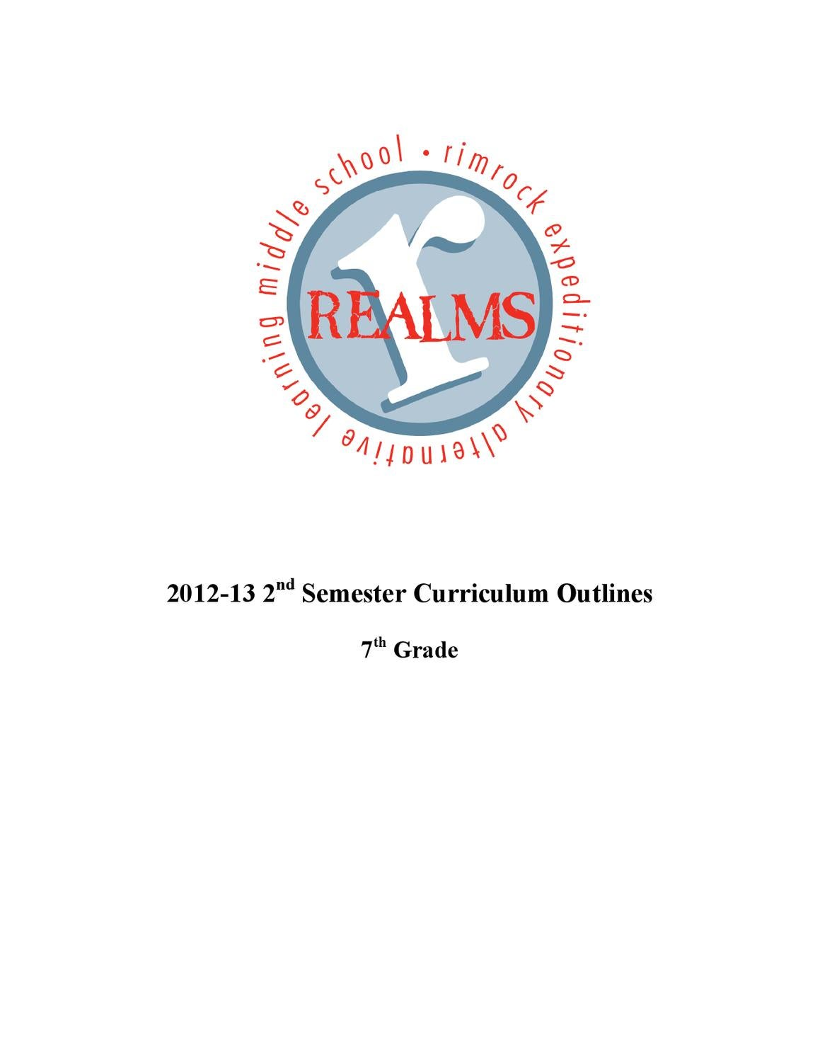 7th Grade 2nd Semester Curriculum by Roger White - issuu