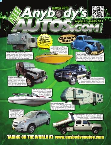 March 2013 Anybodys Autos News Magazine by Anybodys Autos - issuu