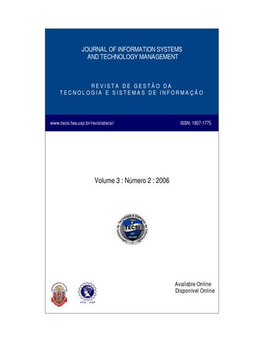 Volume iii numer ii by laboratrio de tecnologia e sistemas de journal of information systems and technology management fandeluxe Image collections