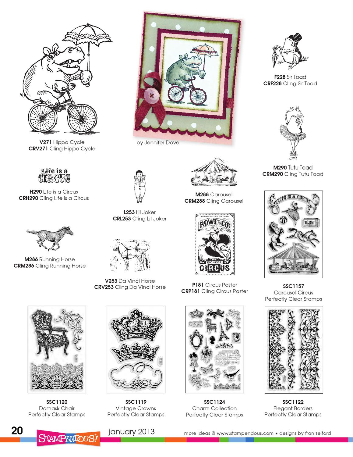 Lil Joker Image Stampendous Cling Rubber Stamp