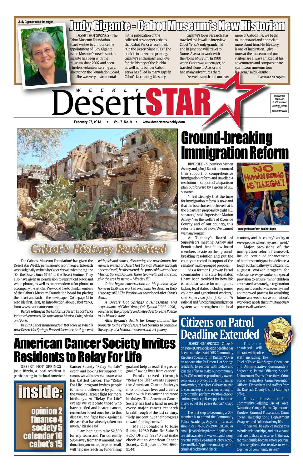 Desert Star Weekly Feb.