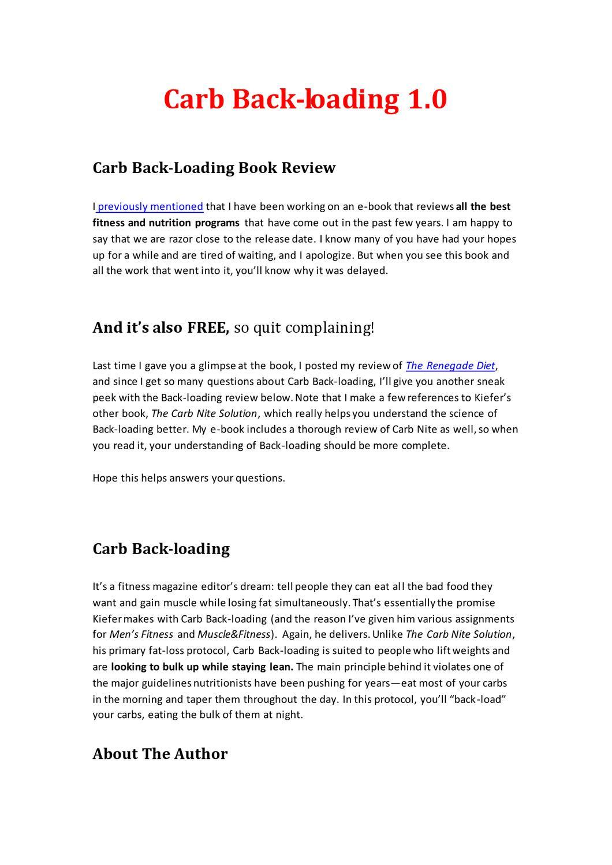 Solution pdf nite carb