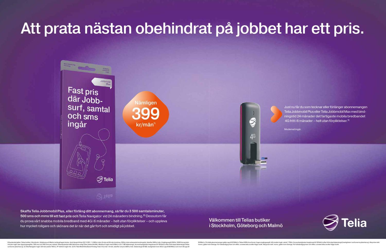 telia mobilt bredband plus datamängd