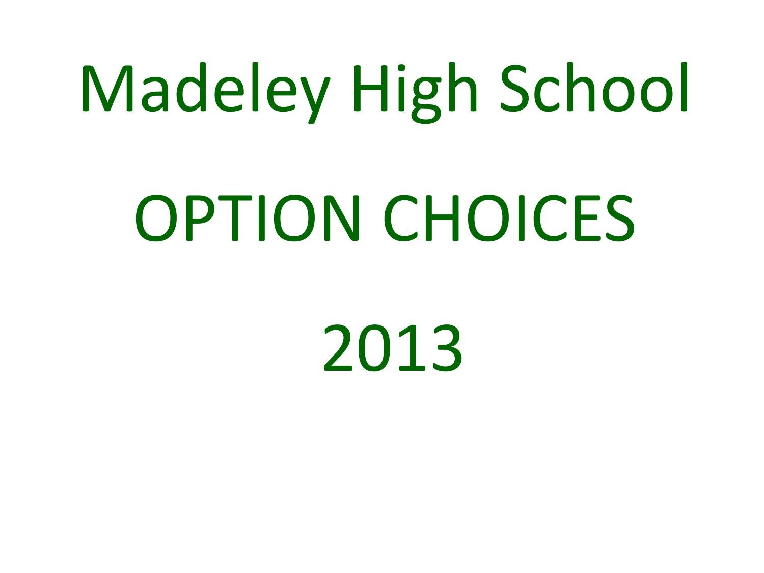 Best gcse options to take