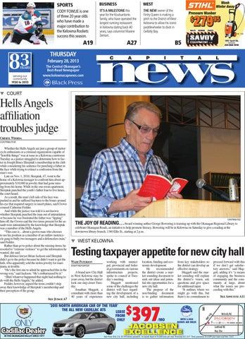 Kelowna Capital News, February 28, 2013 by Black Press Media