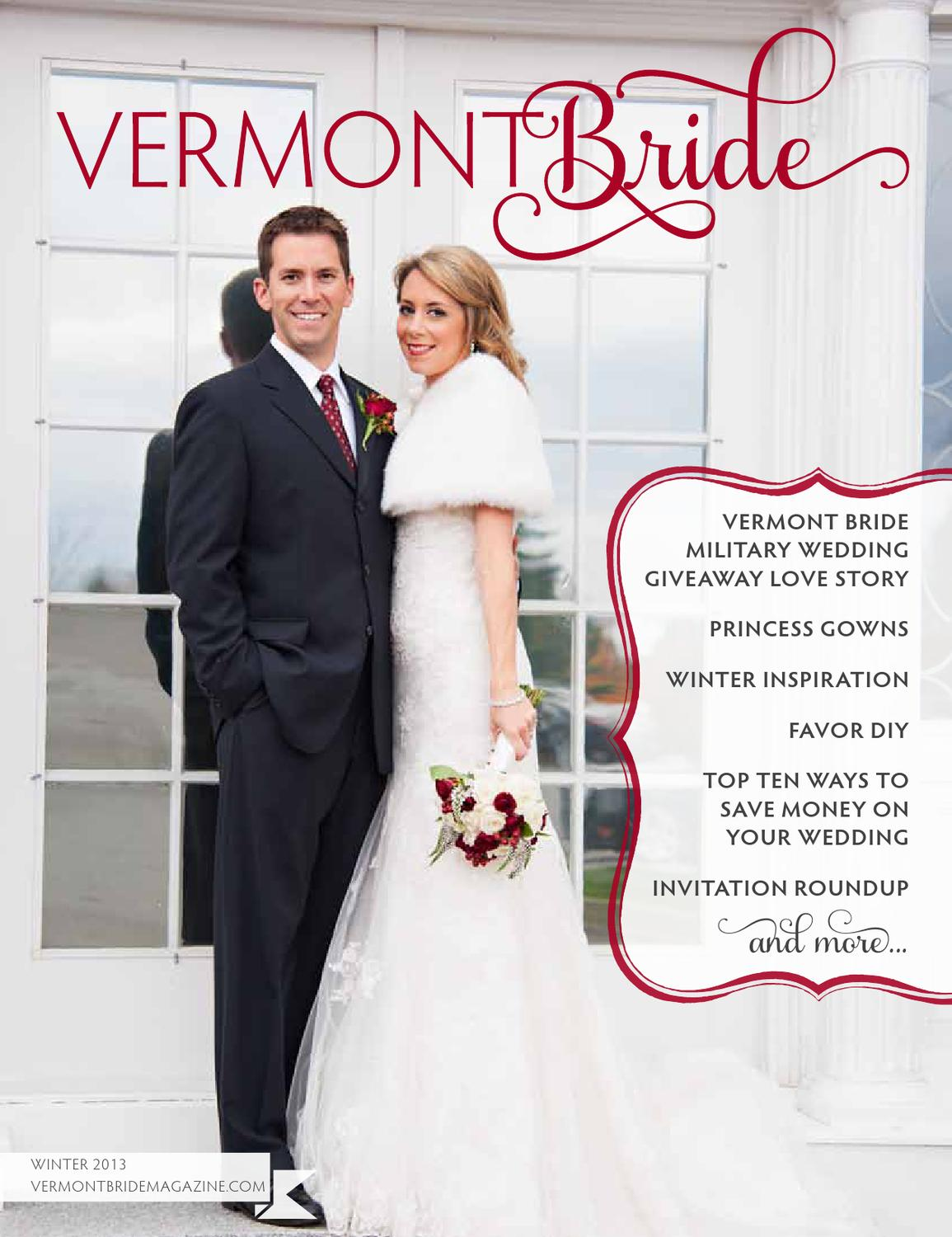 Vermont Bride Magazine Winter 2013 by Vermont Weddings by Vermont ...