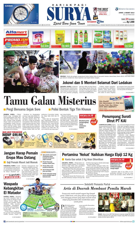 E Paper Surya Edisi 1 Maret 2013 By Harian Issuu Produk Ukm Bumn Jus Durian Lite Kuning Omah Duren