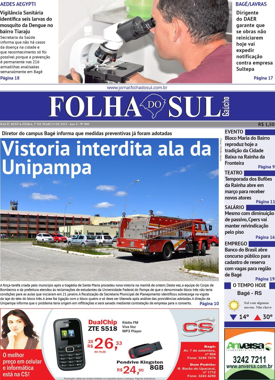 05b1e3696 Folha do Sul Gaúcho Ed. 860 (01/03/2013) by Folha do Sul Gaúcho - issuu