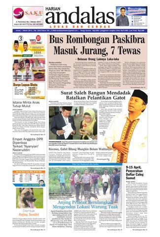 Epaper andalas edisi jumat 22 november 2013 by media andalas - issuu